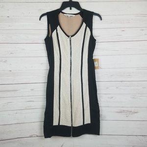 Rachel roy zip front Fitted dress color block